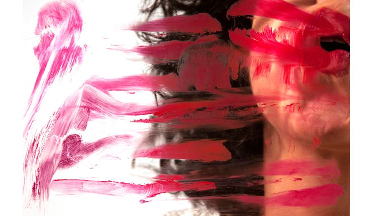 Maria Yolanda Liebana, Lipstick Series, Digital Photograph, Performance, 2012